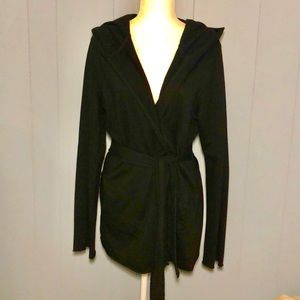 LUCKY BRAND BLACK SWEATSHIRT CARDIGAN SZ XL